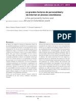 (Articulo en Español) (2014)El Modelo de Los Cinco Grandes Factores de Pesonalidad y El Uso Problematico de Internet en Jovenes Colombianos