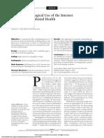 (Articulo en Ingles) (2014) Efecto Del Uso Patológico de Internet en La Salud Mental Del Adolescente