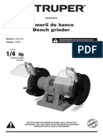 Instructivo Esmeril de Banco (Eba-525)