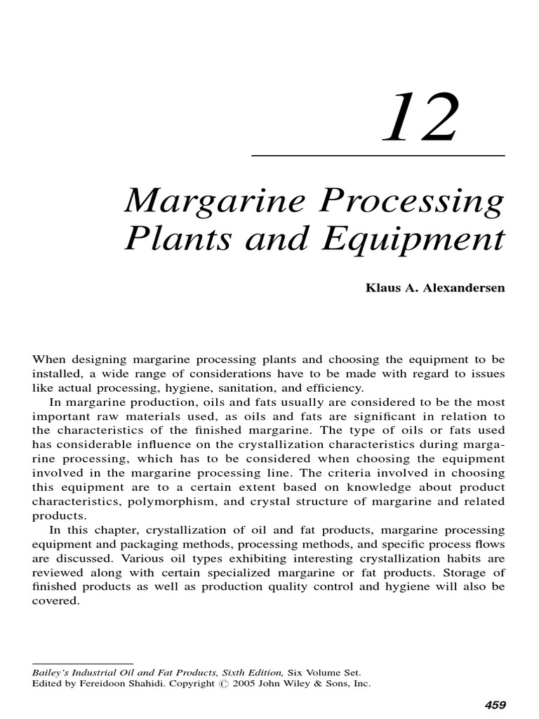 The composition of margarine 5