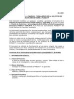 Instructivo Para Llenar Los Formularios de La Solicitud de Financiamiento Linea Fodecyt Id-i-0001