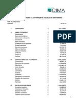 Copia de Presupuesto Escuela Enferemeria CIMA Corregido HVAC 2 Julio 2013 SUST AL 24 Junio