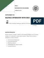 Supplement #2 Matrix Inversion