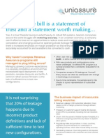 An accurate bill is a statement of trust and a statement worth making...