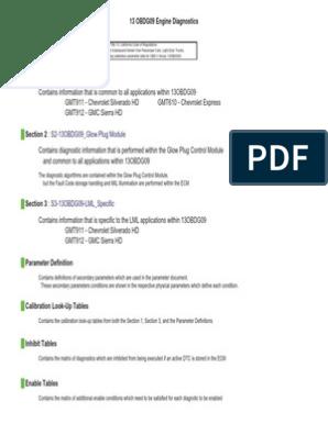 13OBDG09 Engine Diagnostics | Turbocharger | Electronic Circuits
