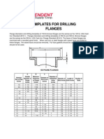 Templates for Drilling Flanges