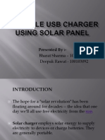 Portable Usb Charger Using Solar Panel