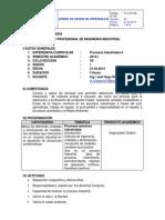 i Sesión de Aprendizaje-procesos Industriales II