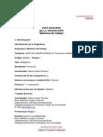 """Guia Docente """"Medicina Del Trabajo"""""""