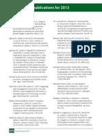 IRRI AR 2013 IRRI scientific publication for 2013