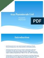 PPT on Axa Parenterals Ltd