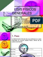 ANÁLISIS FÍSICOS GENERALES