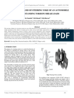 Structural Analysis of Steering Yoke of an Automobile
