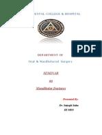 Seminar 12 Mandibular Fractures / orthodontic courses by Indian dental academy