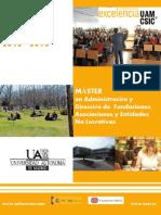 BROCHURE Master Fundaciones Edicion XX 2012 2013