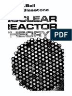 Nuclear Reactor Theory by Bell and Glasstone