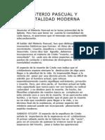 Misterio Pascual y Mentalidad Moderna