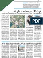 La Regione ci toglie 2 milioni per i Collegi - Il Resto del Carlino dell'8 maggio 2014