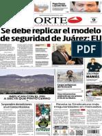 Periódico Norte de Ciudad Juárez edición impresa del 9 mayo de 2014