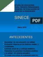 2.- Presentación General Sinece Marzo