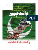 PAT issues White Paper on corrupt system, rigged elections, fake democracy and incompetent government