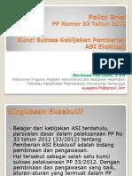 Policy Brief_kunci Sukses Pp 33 Tahun 2012_pemberian Asi