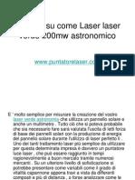 Consigli Su Come Laser Laser Verde 200mw Astronomico