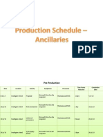 Production Schedule [Repaired]