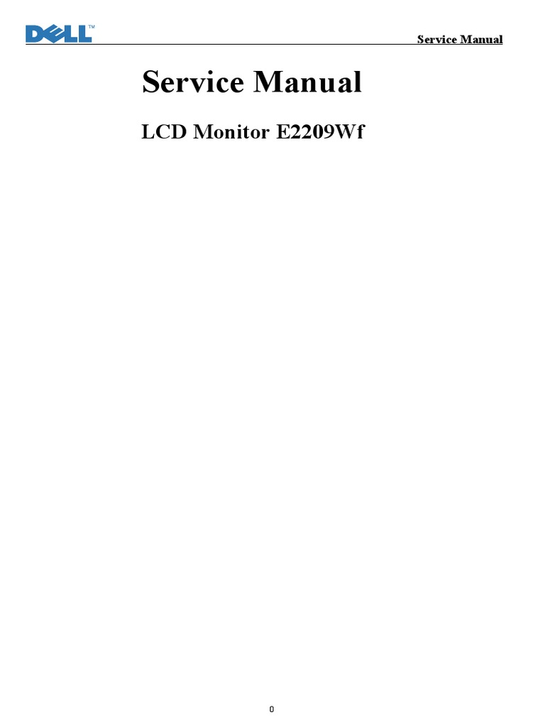Lcd Monitor E2209wf Schematic Rectifier Power Inverter 19 Inch Supply Circuit Diagram