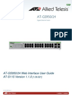 Allied telesis GS950/24 web manual