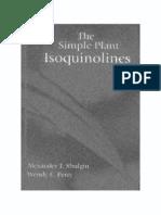The Simple Plant Isoquinolines