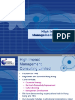 High Imapct Management Consulting Service Brochure