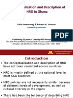 Conceptualization and Description of HRD in Ghana