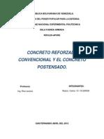 Diferencia Entre El Proceso Constructivo Del Concreto Reforzado Convencional y El Concreto Postensado