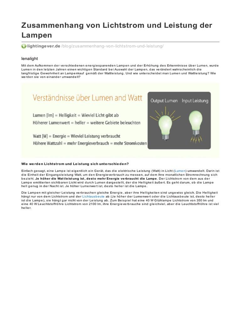 Lightingever zusammenhang von lichtstrom und leistung der lampen parisarafo Gallery