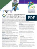 Kampala Declaration - Munyonyo Statement