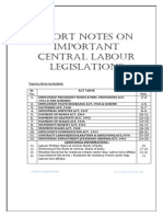 Labour Laws-Short Notes