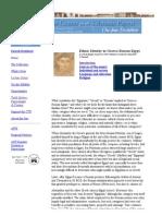 Bancroft Library, Berkeley .Ethnic Identity in Ptolmaic Egypt, Tebtunis, On-line Exhibit