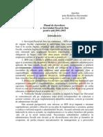 Plan de Dezvoltare a SFS 2011 - 2015