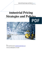 Industrial Pricing Strategies and Policies