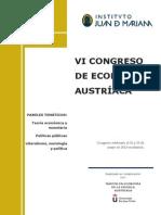 140327revista Vi Congreso Economia Austriaca