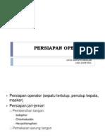 Persiapan Operator