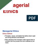 Managerial Ethics Slide