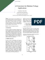 Multi Level Converters for Medium Voltage Applications