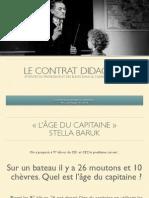 Contrat Didactique