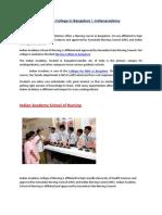 Nursing College in Bangalore | Indianacademy