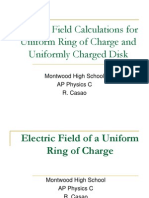 Electric Field Ring of Charge & Disk