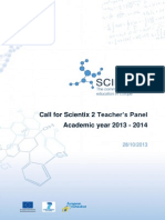 Files.eun.Org Scientix Scx2 Call for Teachers Scx2 WP6 Call for Teachers Y1