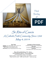 St. Rita Parish Bulletin 5/4/2014