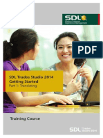 SDL Trados Studio 2014 Getting Started Part 1